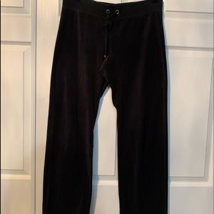 Victoria Secret black velour sweatpants